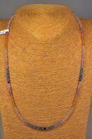Saphir Kette Collier 66,77 Ct. Classic Edelstein Schmuck Halskette Heilstein Neu