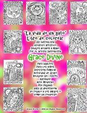 La Vida de un Gato Libro de Colorear 22 Surrealista Creativo Artístico...