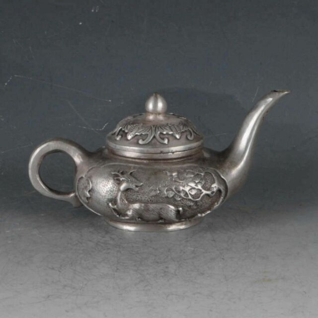 Chinese Gilt Copper Pumpkin  Teapot  Made During The Qianlong Period