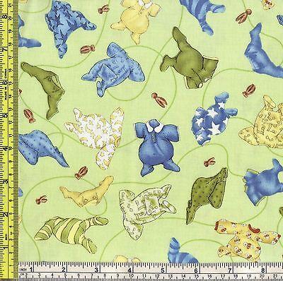 Baby Clothes 100% Cotton Fabric SSI Moonbeam Jar Green 1/4 yard 22.5 cm off bolt