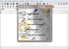 Dirección de códigos de barras etiqueta electrónica Maker Creador Nuevo programa de software