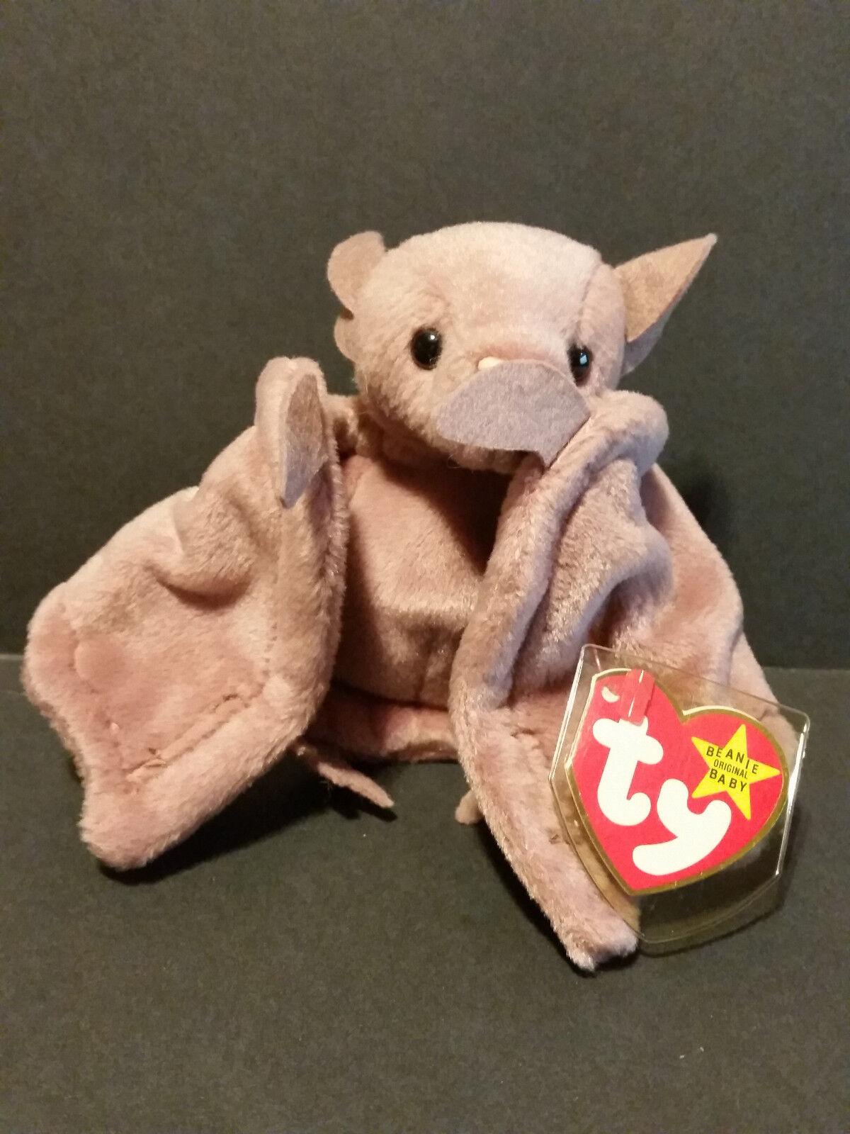 1996 Ty Beanie Baby Batty the Bat W  Tag PVC Pellets