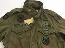 Denim & Supply Ralph Lauren Men Military US Army Skull Patches Field Coat Jacket