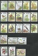 Großb.-Guernsey-Alderney ** postfrisch aus 1994-1996 - Freimarken Fauna + Flora!