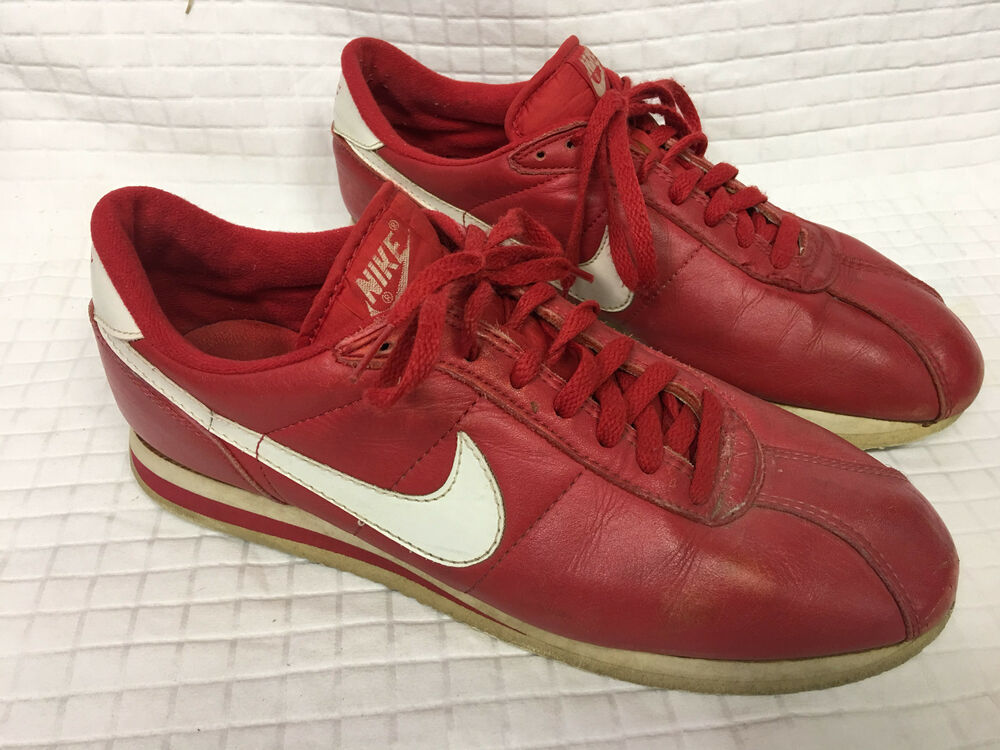 VTG Homme NIKE Red Running sneakers 12 RETRO Distressed Korea 900810 CORTEZ 70's Chaussures de sport pour hommes et femmes