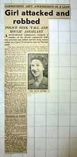 1949 Miss Molly Huffer, 19-year-old Club Mistress, Attacked
