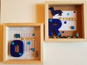 Image Is Loading Personalised Initial Gift Frame Boys Girls Baby 1st