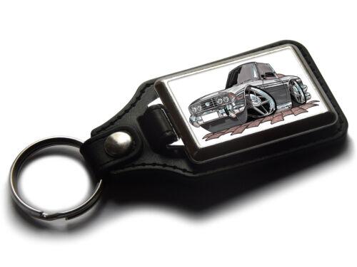 Koolart Cartoon Car Triumph Stag Leather and Chrome Keyring