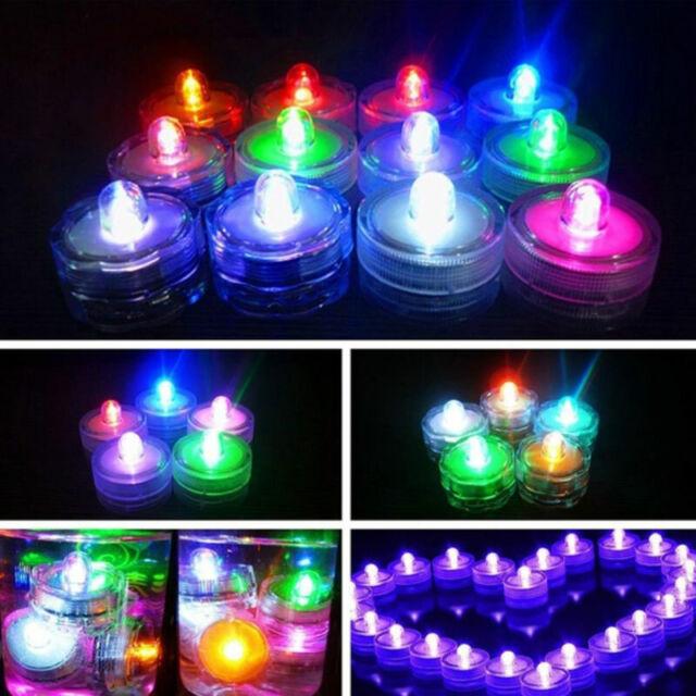 48 PURPLE flameless Batteries LED TEA LIGHTS ideal candle Vase WEDDING PARTY