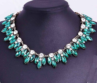 Christmas Gift Pendant Crystal Bib Statement charm chunky collar Necklace 935
