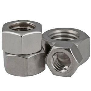 BSW-A2-304-Stainless-Steel-Hex-Full-Nuts-1-8-034-3-16-034-1-4-034-3-8-034-1-2-034-5-8-034-3-4-034