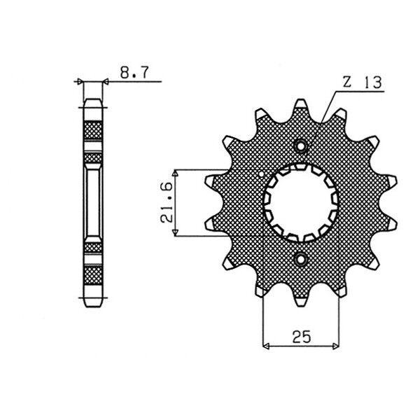 PIGNONE S AC P530-D18   16 SUZUKI GSX FA ABS (CH135/L6) 1250 54.2840018