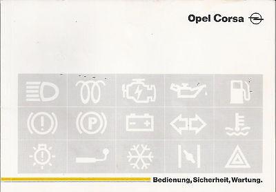 1 Manuale Di Istruzioni Opel Corsa Manuale Edizione 1990-ung Opel Corsa Handbuch Ausgabe 1990 It-it