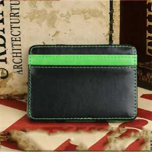 Fashion-Leather-Men-039-s-Wallet-Card-Holder-Mini-Purse-Elastic-Band-Slim-Money-Clip