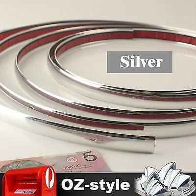 2M x 20mm Chrome Silver Trim Auto Car Door Air Window Grille Edge Protect Strips