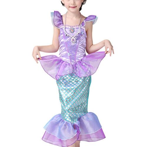 Enfants Bébé Filles Little Mermaid Costume Princess Dress Party cosplay costume 4 Taille