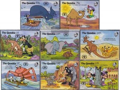 completa Edizione Mnh 1991 Walt-disney-cifre Collection Here Gambia 1198-1205
