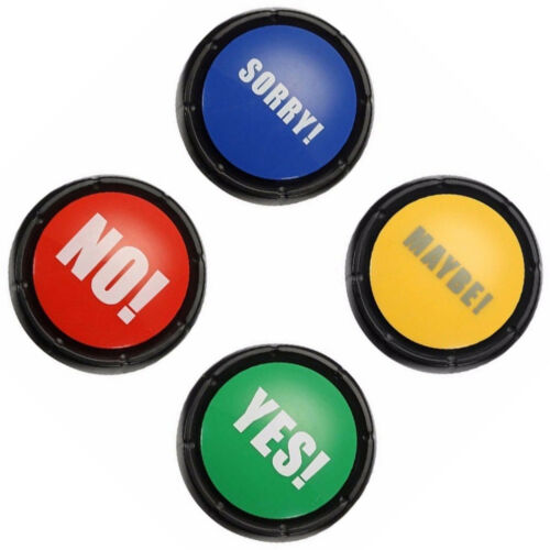 JQ/_ Bullshit Maybe No Sorry Yes Sound Talking Button Home Party Funny Gag Toy