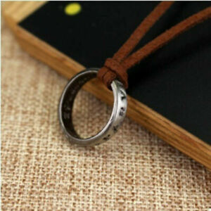 NEW-Uncharted-4-Nathan-Drake-039-s-Vintage-Band-Ring-Leather-Code-Pendant-Necklace