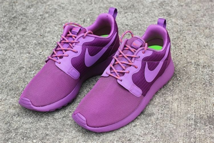 Nike roshe run hyperfuse Women Running cross training viollet 100% AUTHENTIC