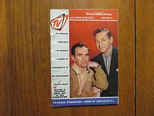 June 25-1961 N Y Herald Tribune TV & Radio Magazine(WAYNE & SHUSTER/JOHNNY WAYNE