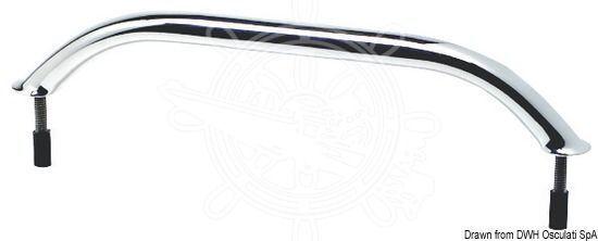 Bootsteile & Zubehör 220mm Zubehör Osculati Edelstahl Handlauf Handgriff Griff Beschlag 20x25mm Länge