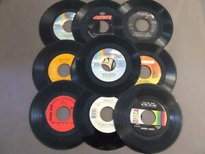 LOT-10-45-RPM-7-INCH-RECORDS-FOR-CRAFTS-DECORATIONS-FREE-FAST-SHIPPING