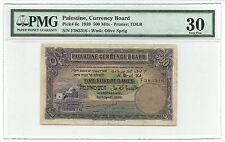Palestine British Mandate Banknote 500 Mils 1939 P6c PMG VF 30 Israel Rare