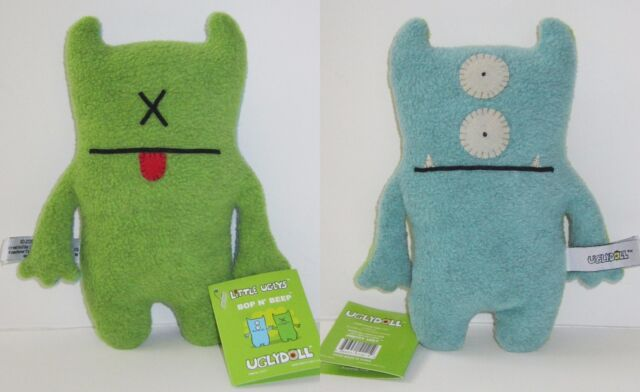 "NEW! 6"" Blue & Green BOP N' BEEP Little Ugly UGLYDOLL! CHECK OUT ALL MY UGLYS!"