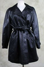 Bally Coat Size 10 Leather Black Textured Jacket Casual Outerwear