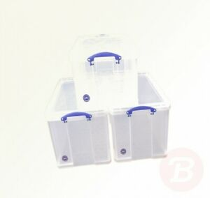 Really-Useful-2-x-84-1-x-64-Litre-Storage-Box-Clear-Bonus-Pack