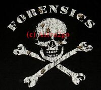 Forensics--csi Medical Examiner Pirate Skull Cross Bones Insects Science T Shirt