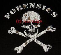 Forensics--csi Medical Examiner Pirate Skull Cross Bones Insects Science T Shirt