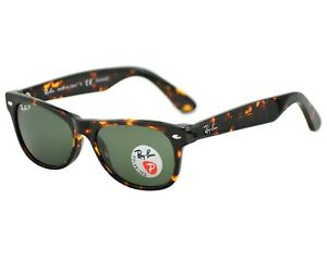 51c1747db3 Ray-Ban RB2132 New Wayfarer 902 58 Tortoise Frame  Green G-15 Lenses ...