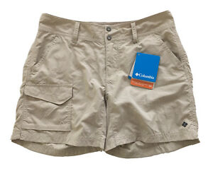 Columbia-Silver-Ridge-Shorts-Nylon-5-Inch-Inseam-UPF-50-Fossil-Beige-Size-4-NWT