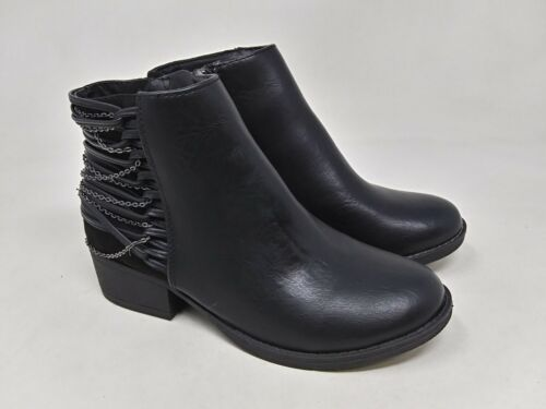 Girl/'s Youth SO American Heritage Whitney Ankle Boots Black N42 New