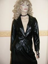 BLACK PVC JACKET / COAT SIZE 12