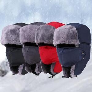 Winter Fur Hats Thick Warm Snow Women Cap Face Mask Men s Cycling ... 24835bdabdf7