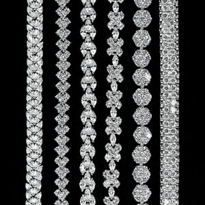 LUXURIOUS-AAA-WHITE-CUBIC-ZIRCONIA-BRASS-WHITE-GOLD-PLATED-BRACELET-6-STYLE
