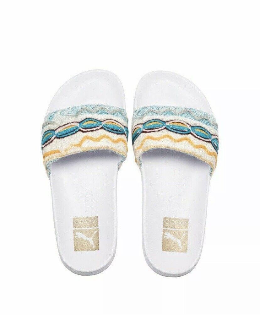 Puma x Coogi Unisex Leadcat White Slides Sandals 7.5 (367508-01) NEW