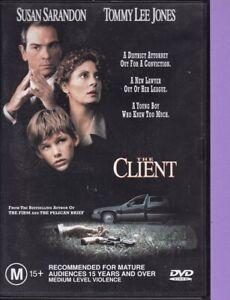The-Client-U-DVD-1994-R4-Susan-Sarandon-Tommy-Lee-Jones