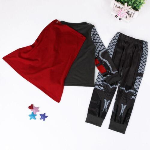 Thor Kids Toddler Boys Pajamas Sleepwear Tracksuit  Costume Cosplay Fancy Dress