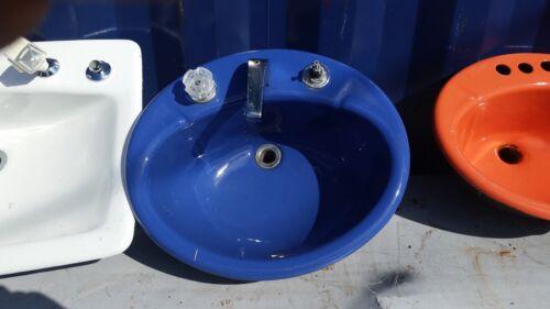 Vintage [3] Kohler Sink's Cast Iron/Porcelain,[2]orange,[1]cobalt / CHOICE 99,99