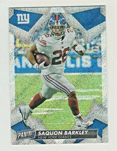 2019-Panini-PANINI-DAY-KICKOFF-RAIN-FOIL-25-SAQUON-BARKLEY-3-10-New-York-Giants