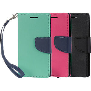 official photos 73b75 90aff Details about Various Colors Wallet Case Flip Credit Card Phone Cover Pouch  for Android Phone