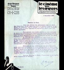 """PARIS (VI°) LOCATION & VENTE de FILMS Censurés / CINEMA """"Jean THOQUET"""" en 1933"""