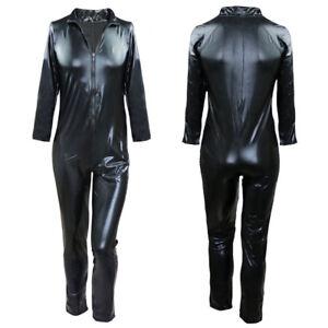 bb427f690a0e Das Bild wird geladen Herren-Body-Wetlook -Dessous-Zip-Maennerbody-Overall-Bodysuit-