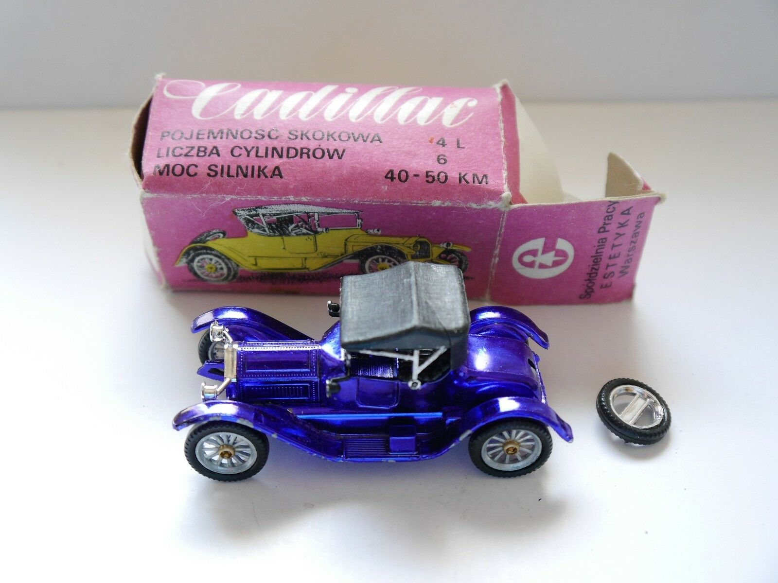 Cadillac 1913 in Bleu Bleu Blue, NOVOEXPORT RADON URSS USSR USSR USSR CCCP dans 1:43 en boîte! c9dc8e