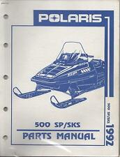 1992 POLARIS SNOWMOBILE 500 SP/SKS P/N 9912126 PARTS MANUAL (726)