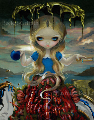 Alice in Dali Dress lobster wonderland Jasmine Becket-Griffith CANVAS PRINT art